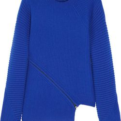 """Alexander Wang spiral zip sweater, <a href=""""http://www.saksfifthavenue.com/main/ProductDetail.jsp?PRODUCT%3C%3Eprd_id=845524446703008&site_refer=GGLPRADS001&cagpspn=pla&CAWELAID=500002830004406705&catargetid=500002830005596581&cadevice=c"""">$595</a> at Saks"""