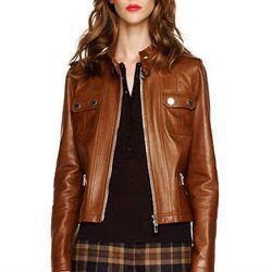 """<b>Michael Kors</b> Leather Motorcycle Jacket, <a href=""""http://www.michaelkors.com/p/Michael-Kors-Michael-Kors-Leather-Motorcycle-Jacket-OUTERWEAR/prod17800024_cat19301_cat102_/?index=4&cmCat=cat000000cat102cat19301&isEditorial=false"""">$2,895</a>"""