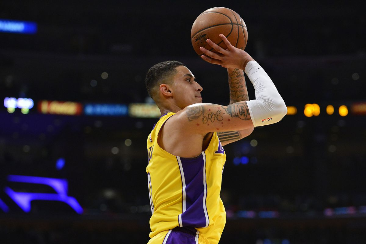 1d5f579b3af9 Lakers rookie Kyle Kuzma says he and Kobe Bryant talk  a lot ...