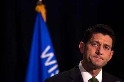 JANESVILLE, WI - AUGUST 09: House Speaker Paul Ryan (R-WI) speaks at his Primary Night press conference, August 9, 2016 in Janesville, Wisconsin. Ryan defeated Republican challenger, Paul Nehlen for the first district primary election.