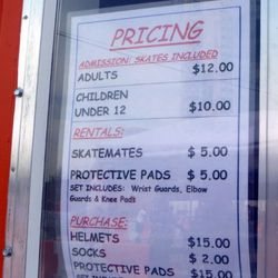 The price list. Sandal-wearers should note that socks are available for $2.