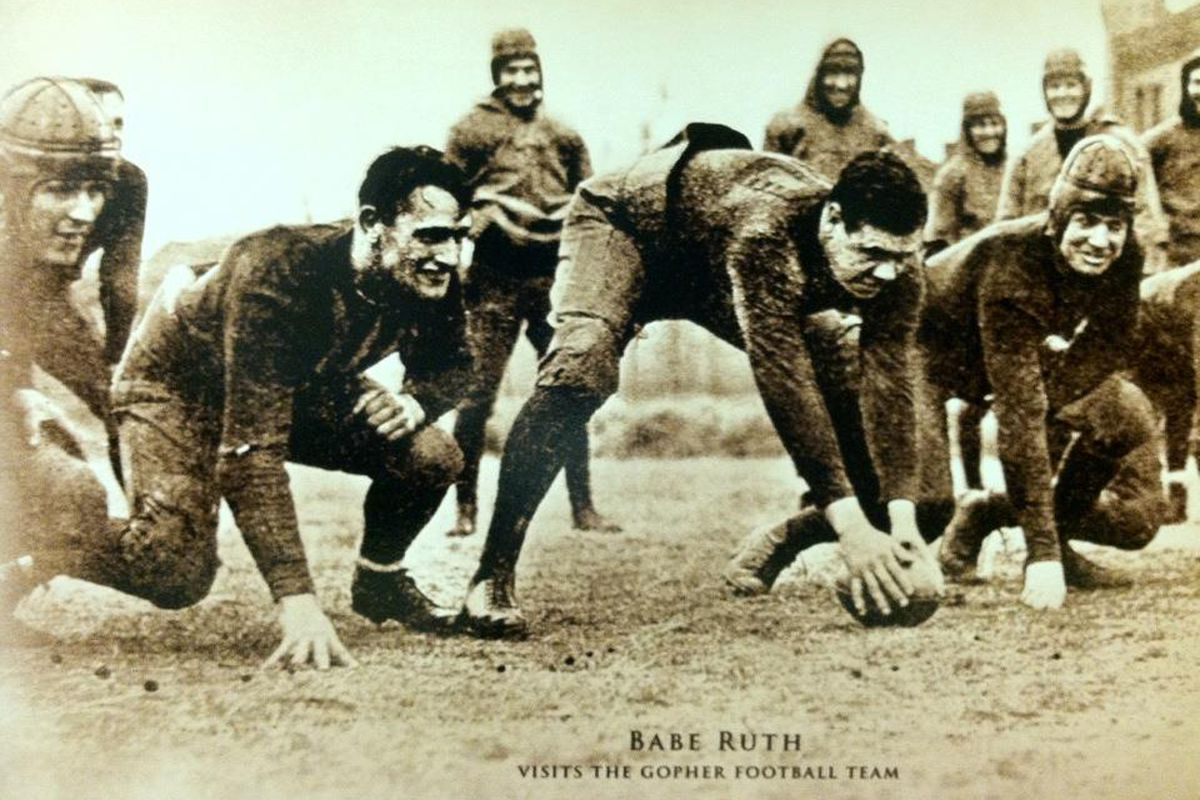 BABE RUTH, NOTED GOPHER FOOTBALLER