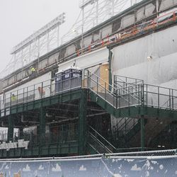 A tighter view of the west side of the ballpark
