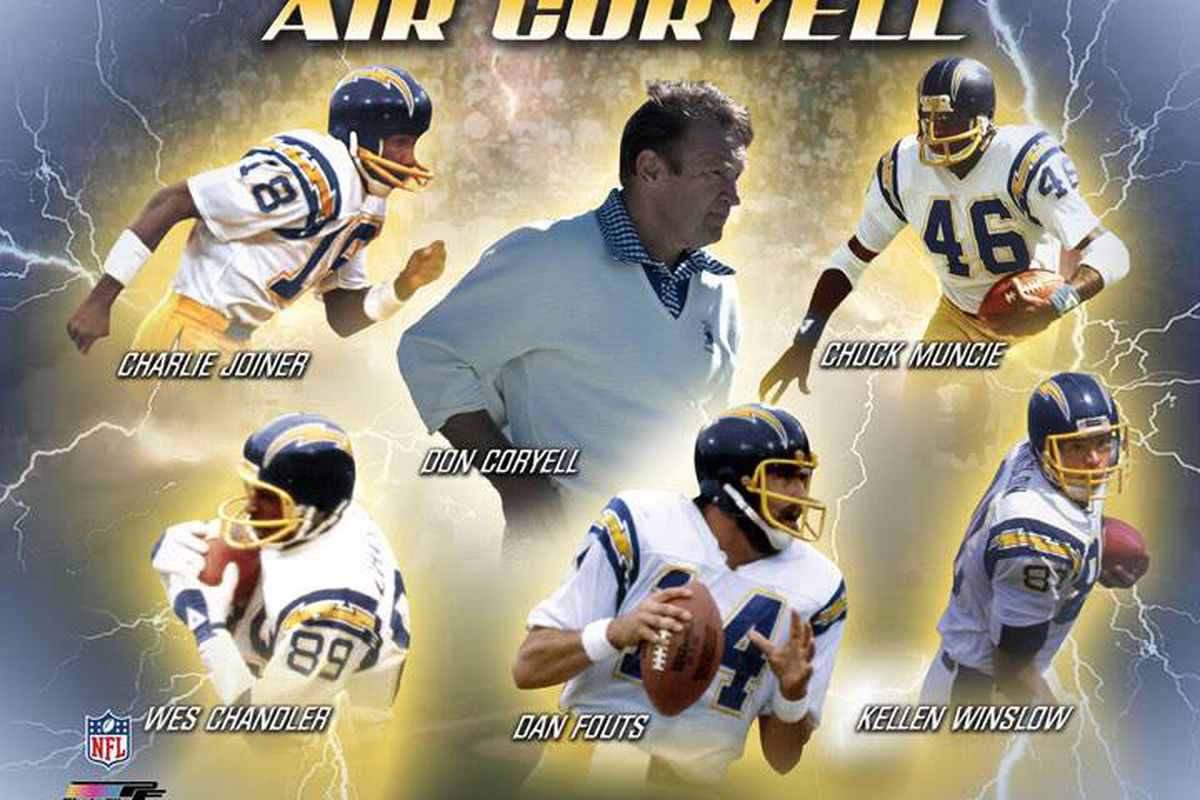 """The Chargers Once Known as """"Air Coryell"""" - Dawgs By Nature 24430c1bb"""