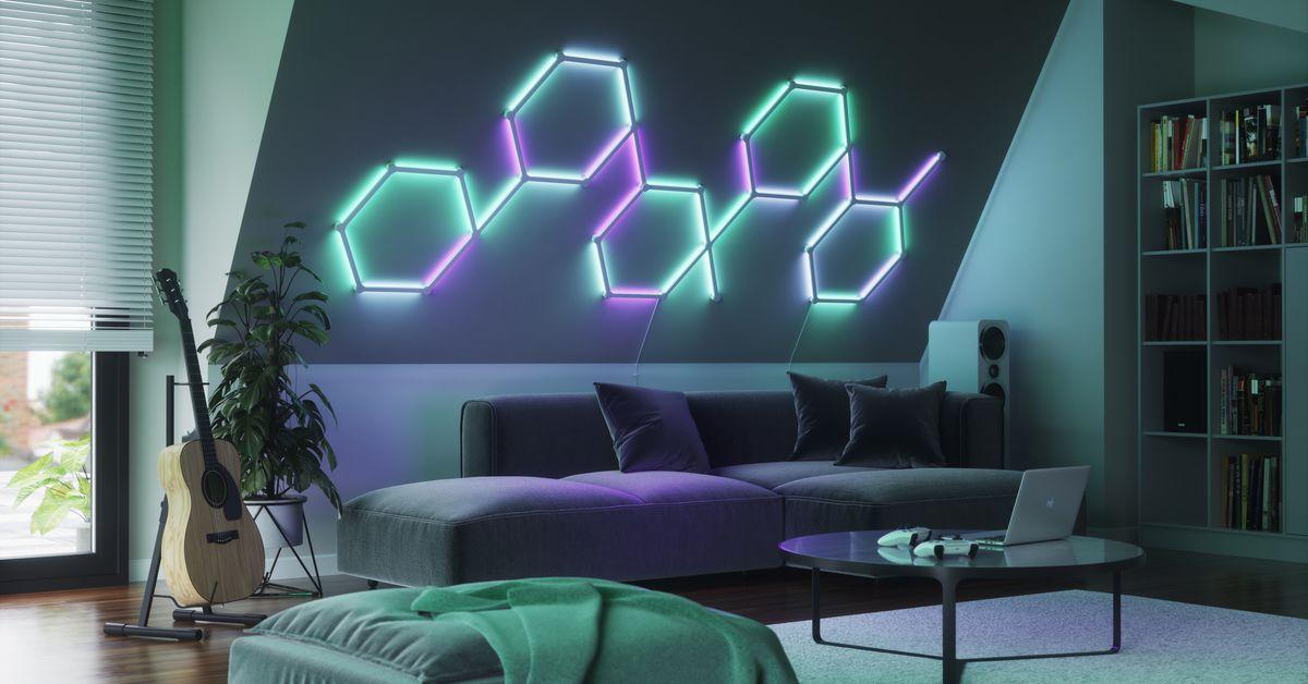 Nanoleaf Lines are color-changing, modular LED smart lighting panels