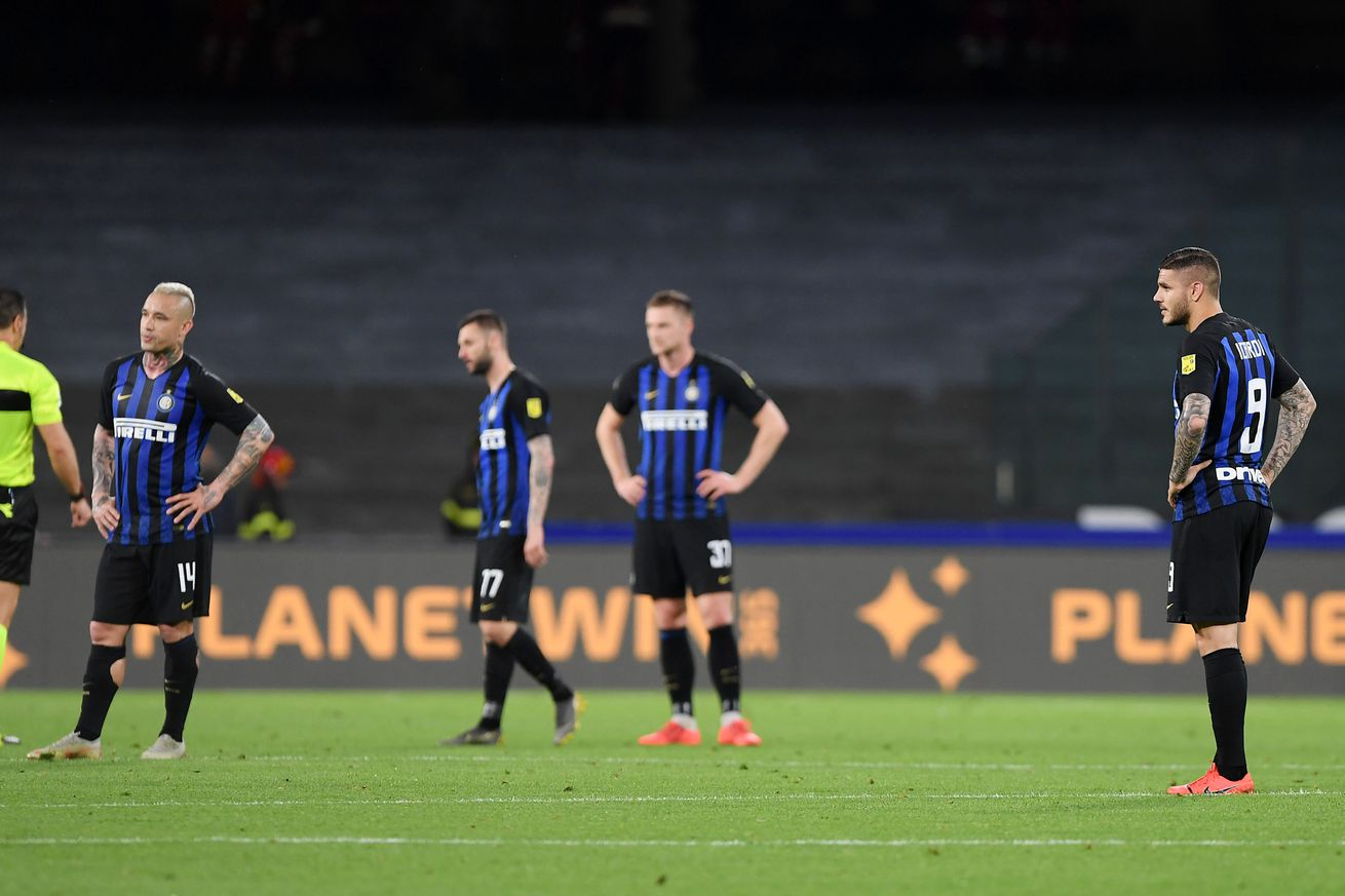 Inter Milan frustrated by Napoli in 4-1 loss