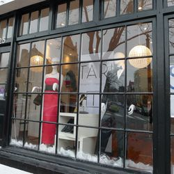 """Gowns and tuxes at consignment shop <a href=""""http://www.taridc.com/"""">Tari</a> in Georgetown."""