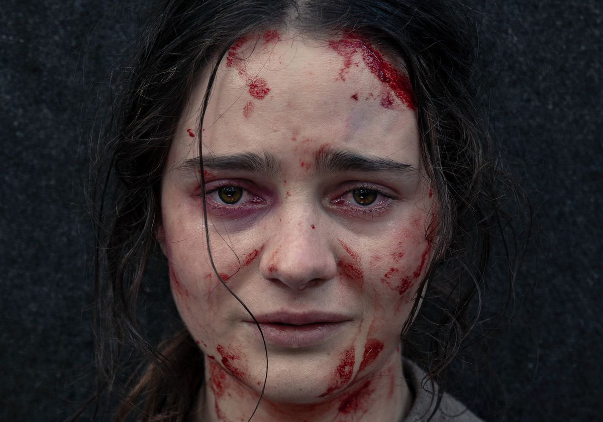 Aisling Franciosi plays Clare in The Nightingale.