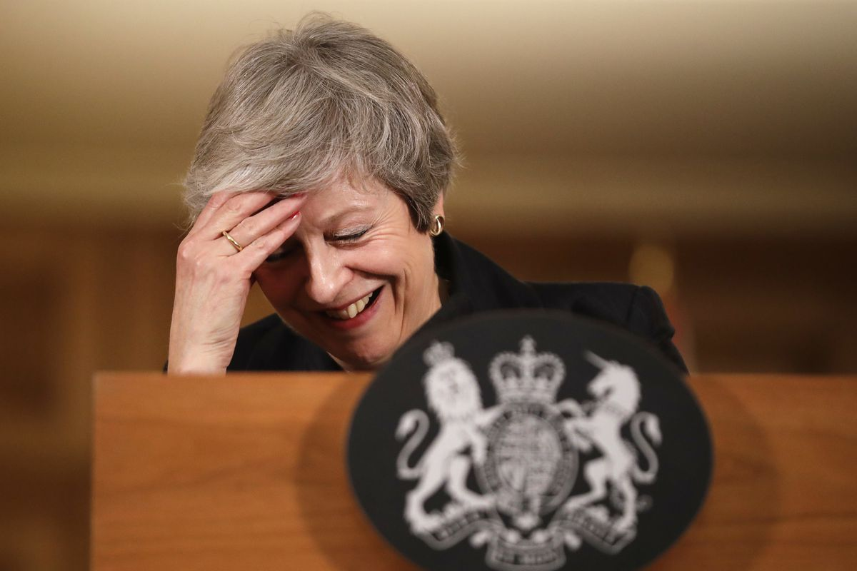 UK Prime Minister Theresa May during a November 15 press conference on the Brexit deal.