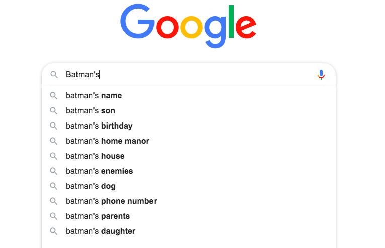 "google search results for ""Batman's"""