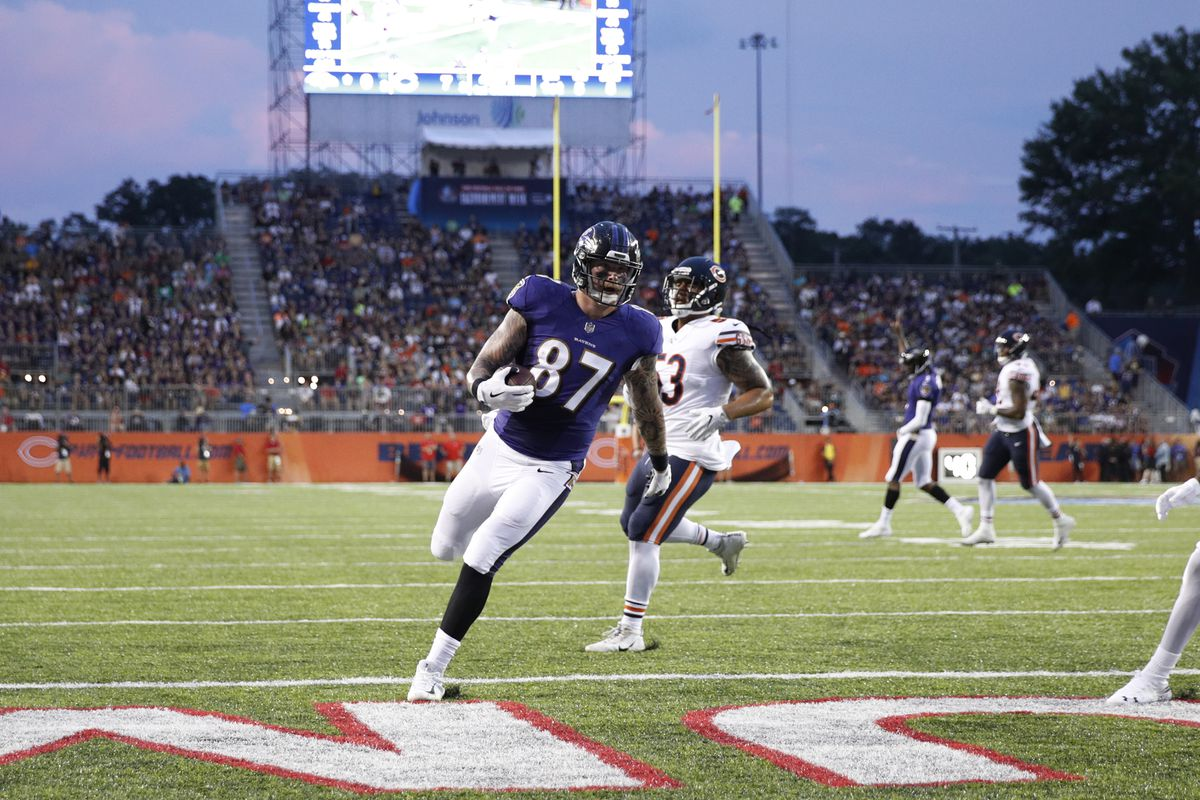 71733a85 10 moments that defined the Ravens' 17-16 win vs. the Bears in the Hall of  Fame game
