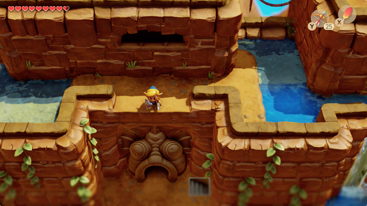 Link's Awakening Tal Tal Heights Angler's Tunnel entrance