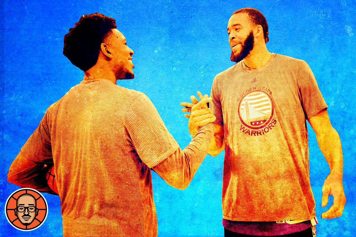 JaVale McGee and Nick Young shaking hands