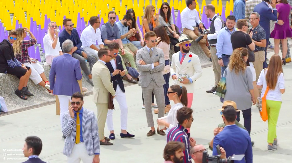 Men peacocking in their designer clothes on streets of Florence