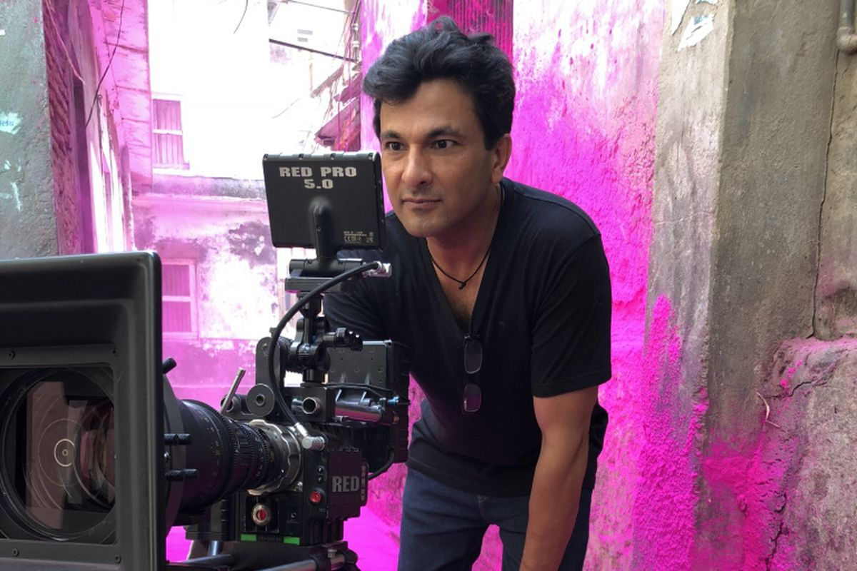Chef and director Vikas Khanna on set at The Last Color