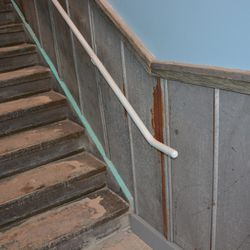 Stairs, with reclaimed detail.