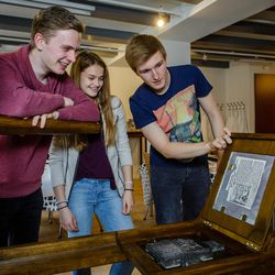 Students who visit Lutherhaus in Eisenach can print out a page of the Bible on a Gutenberg-style printing press that would have been used to publish Martin Luther's writings in the 1500s.
