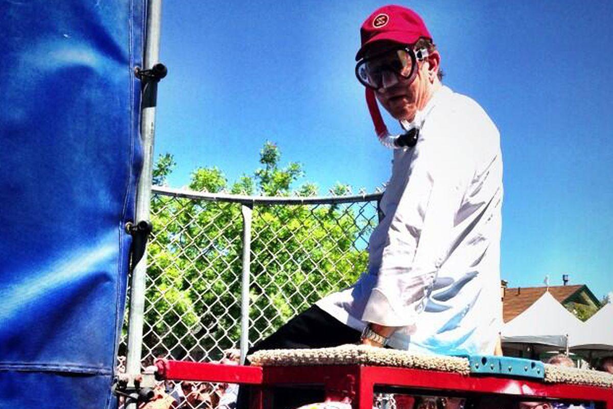 Keller, pre (or post?) dunking.