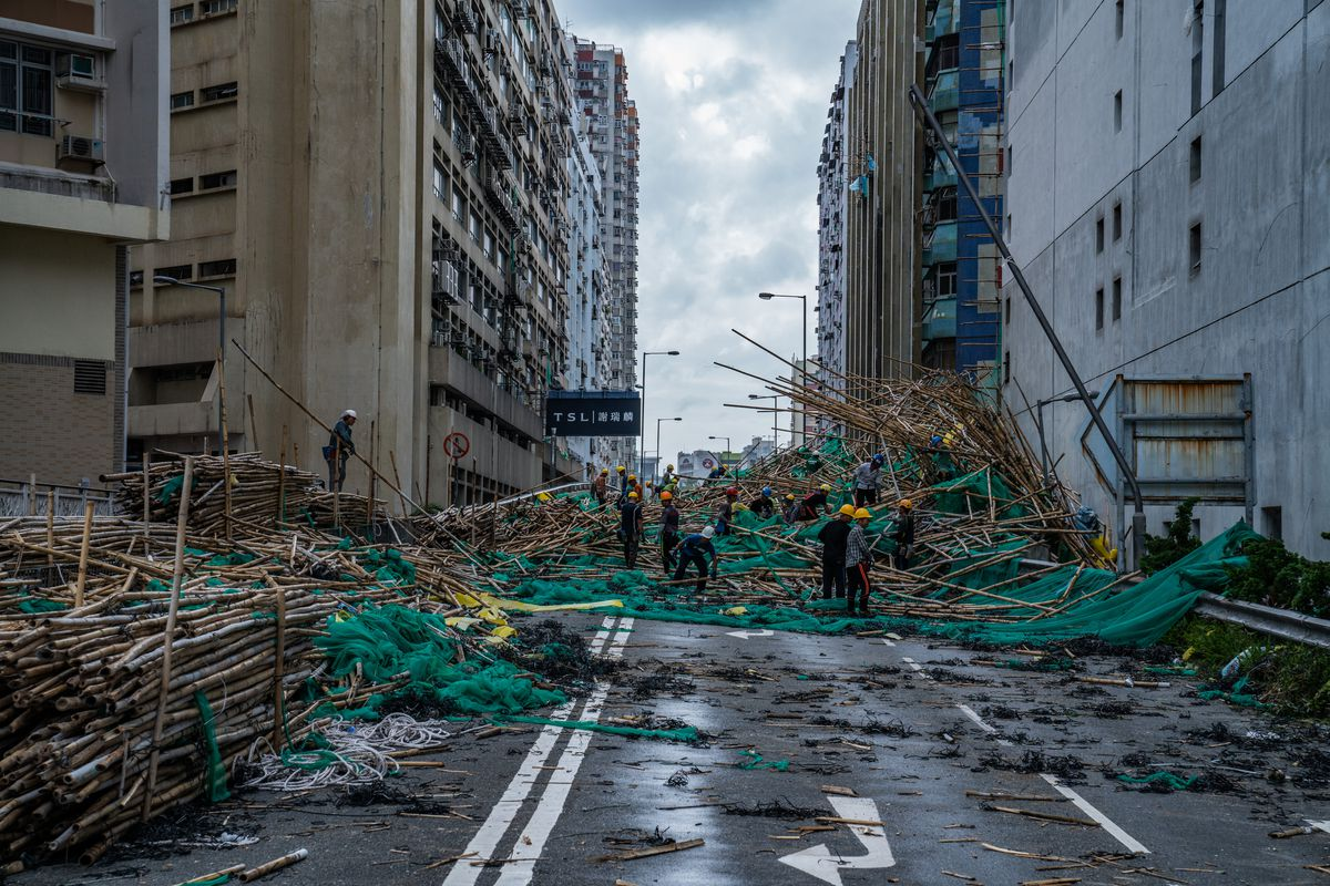 Hong Kong Sets Highest Storm Alert As Super Typhoon Mangkhut Arrives