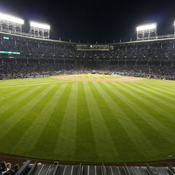 View from the center-field bleachers