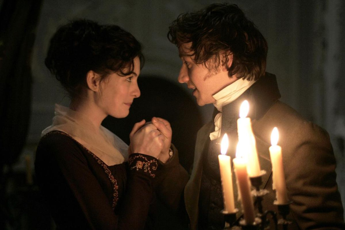 """Anne Hathaway, left, is Jane Austen and James McAvoy is Tom Lefroy in """"Becoming Jane."""""""
