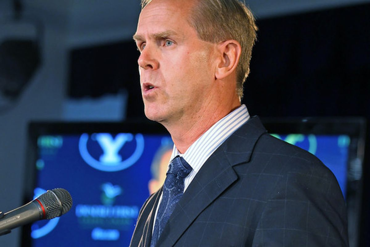 Tom Holmoe's announcement in 2011 that BYU Football will turn Independent.