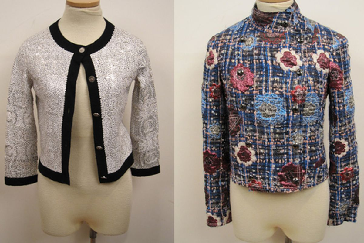 """No, the Cardigans will not be at the Decadestwo party, but these Chanel cardigans might be. Images via <a href=""""http://decadestwo.blogspot.com/"""">Decadestwo</a>"""
