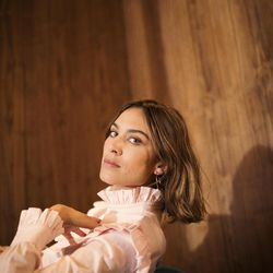 Alexa Chung wears the Harry Blouse from her new collection.