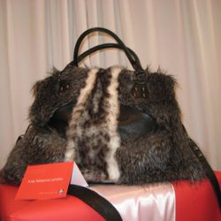 Faux Fur Purse by Adrienne Landau