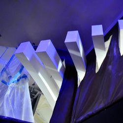 Detail of the aluminum beams.