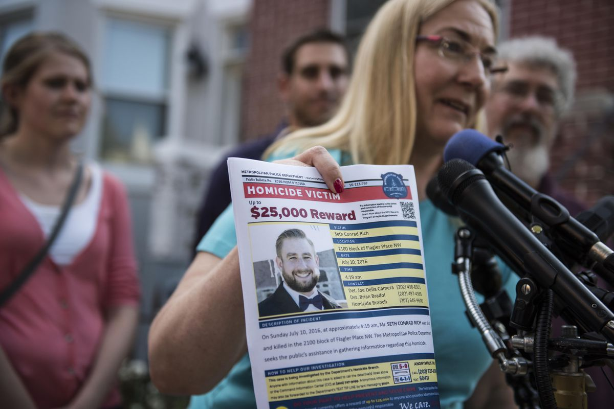 Mary Rich, the mother of slain DNC staffer Seth Rich, speaks on August 1, 2016.