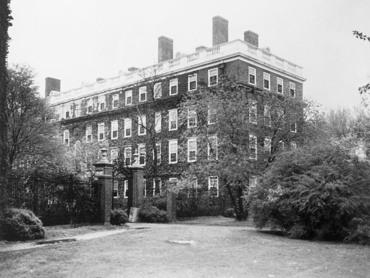 A four-story, rectangular building.