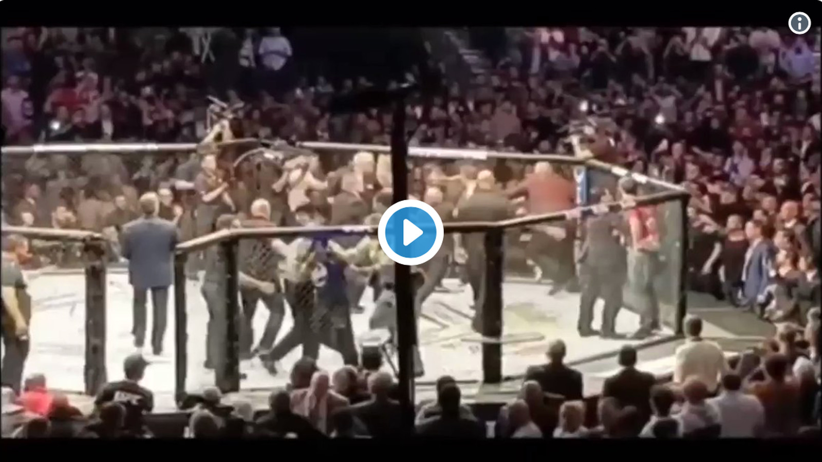 Video: UFC fan storms Octagon to save Conor McGregor ? ?He could have been killed?