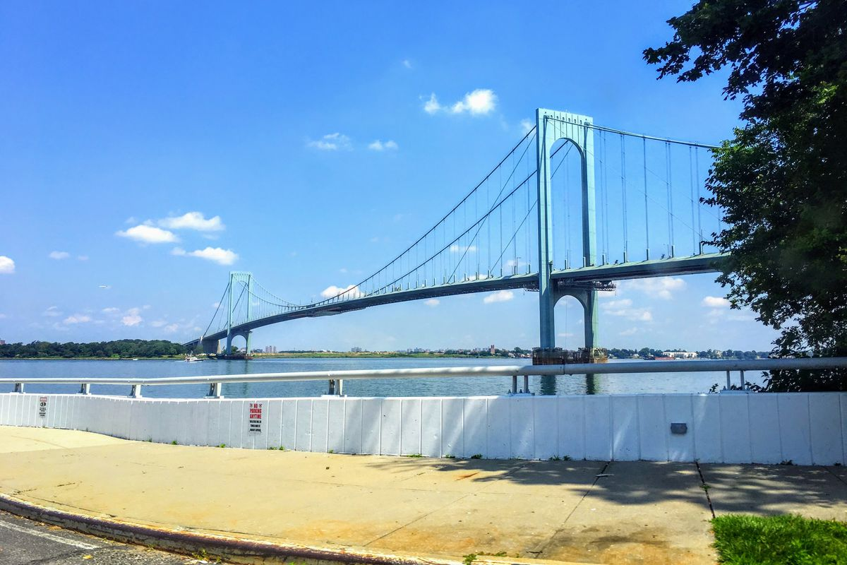 The Bronx-Whitestone Bridge, as seen from Queens, is operated by the MTA.