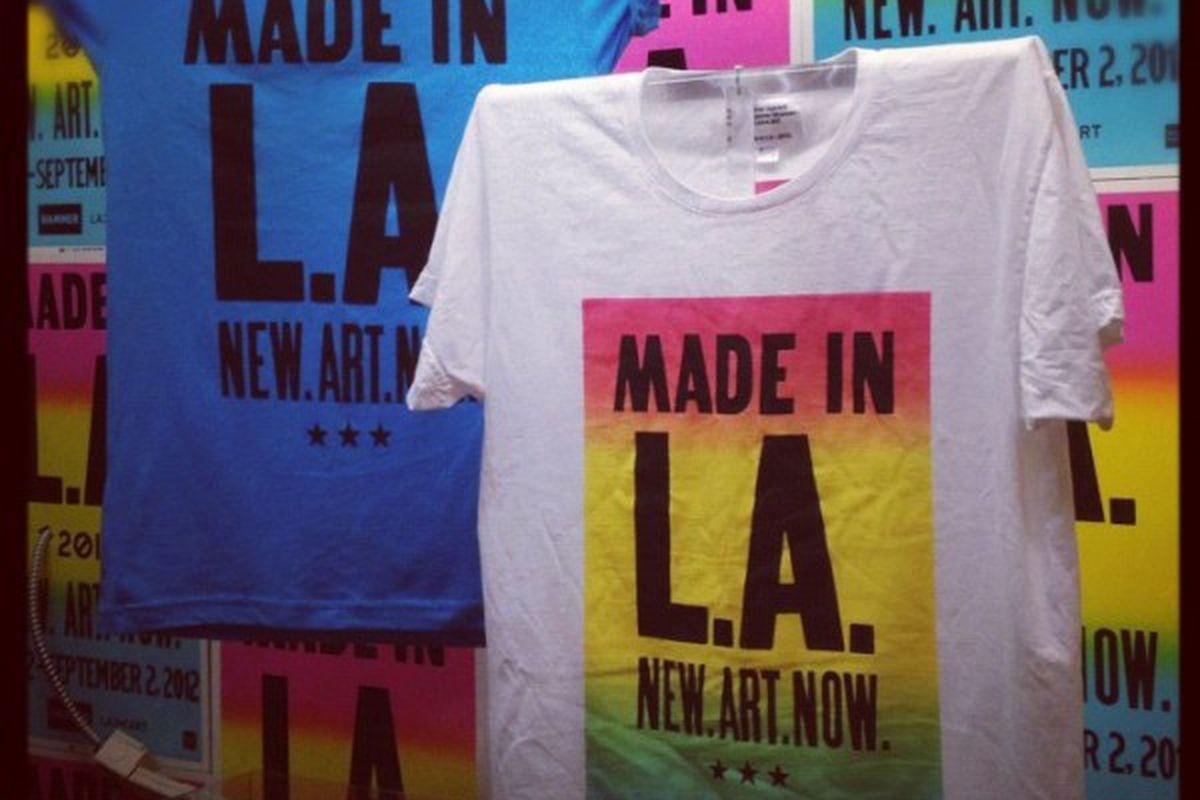 """Merch from Made in L.A. 2012. Photo via <a href=""""http://www.madeinla2012.org/hammer-store-gets-re-made/"""">Hammer Museum</a>"""