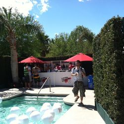 The bar by the pool