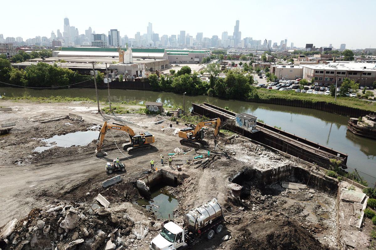 Environmental remediation at Lincoln Yards.