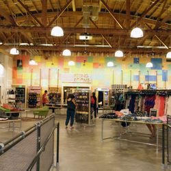 What you see when you step into the massive Urban Outfitters surplus shop. Bonus: there's foosball and a ping-pong table for peeps waiting for indecisive friends in the dressing rooms.