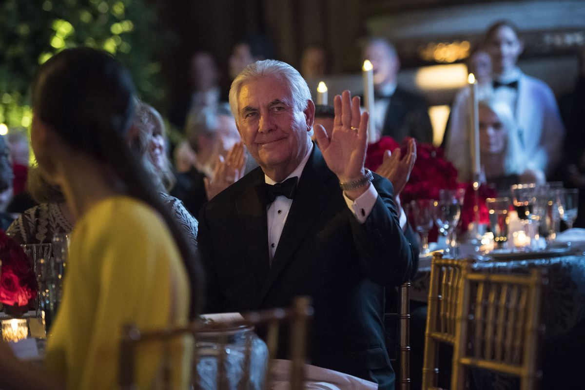 Trump Attends D.C. Dinner Aimed At Meeting With Foreign Diplomats