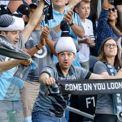 July 10, 2019 - Saint Paul, Minnesota, United States - Fans cheer as Minnesota United takes a 2-1 lead during the quarter-final match of the US Open Cup against New Mexico United at Allianz Field.