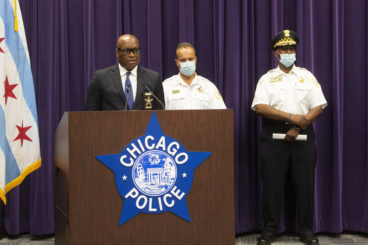 Chicago Police Supt. David Brown will attend a White House meeting with President Biden on Monday to discuss crime.