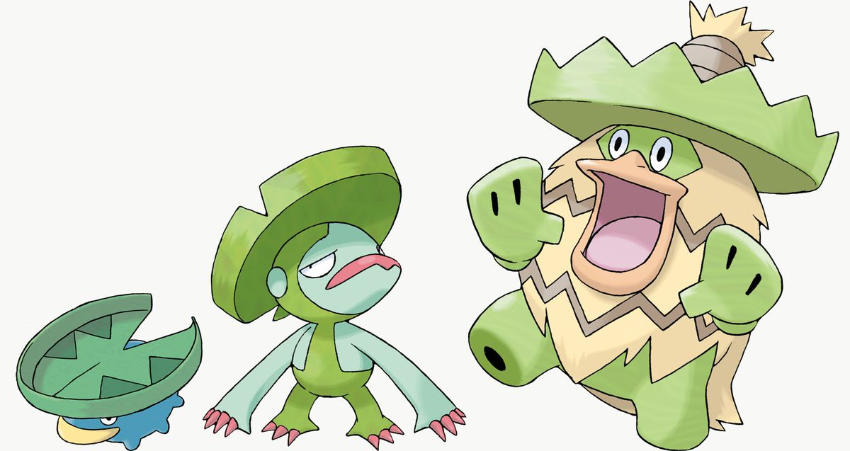 Lotad, Lombre, and Ludicolo are Pokémon Shield exclusives