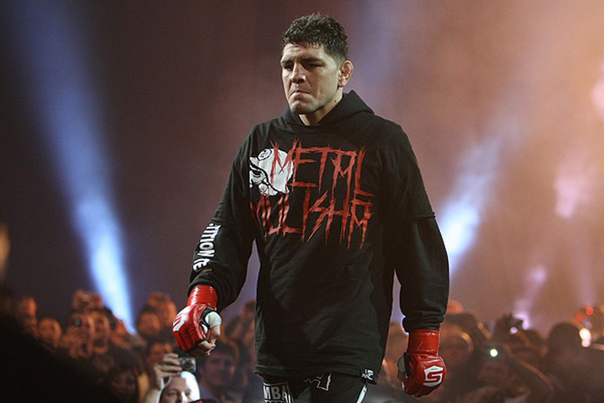 """Nick Diaz went MIA for the UFC 137 press conference in Toronto. <em>Photo by Dave Mandel for <a href=""""http://www.sherdog.com/pictures/gallery/fighter/f_2831/122414/36"""" target=""""new"""">Sherdog.com</a></em>"""