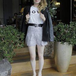 """Alexandra Bigley of <a href=""""http://www.sfshopgirl.blogspot.com/"""">SF Shop Girl</a> channels the '80s."""