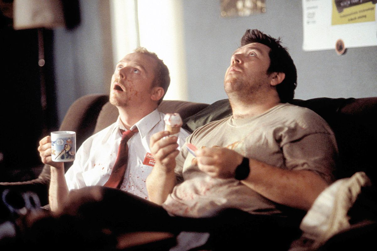 A still from the original Shaun of the Dead.