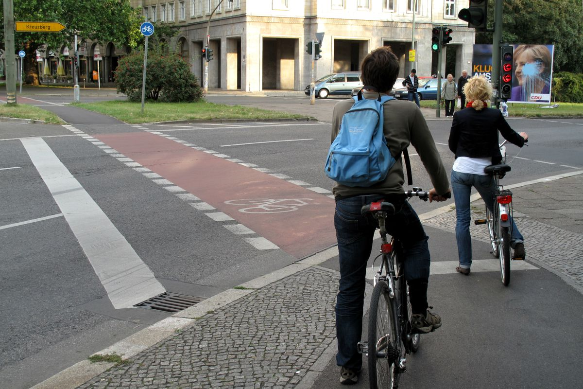 Cyclists in Berlin