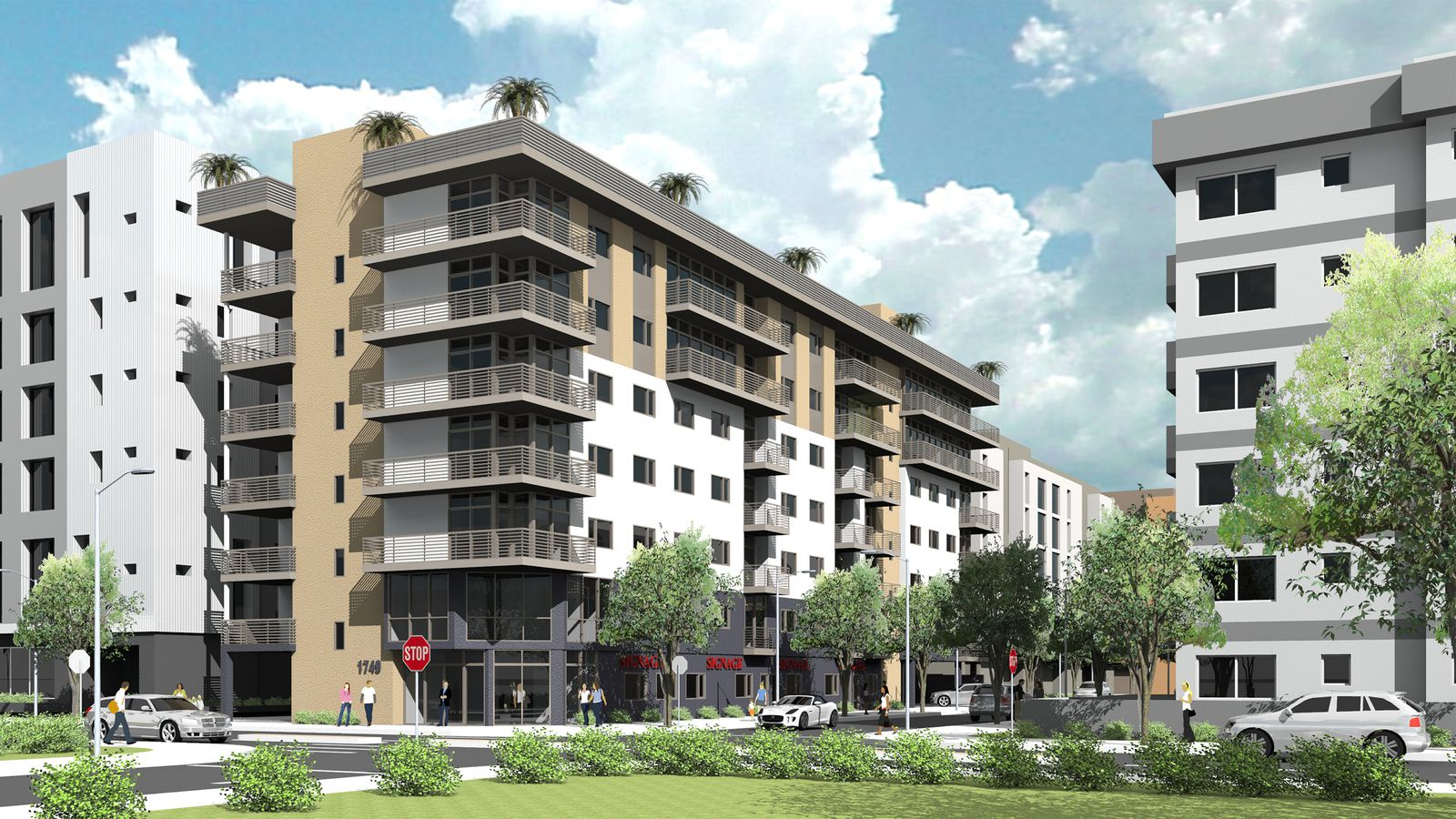 New 7 story apartment building planned near highland and for One story apartments