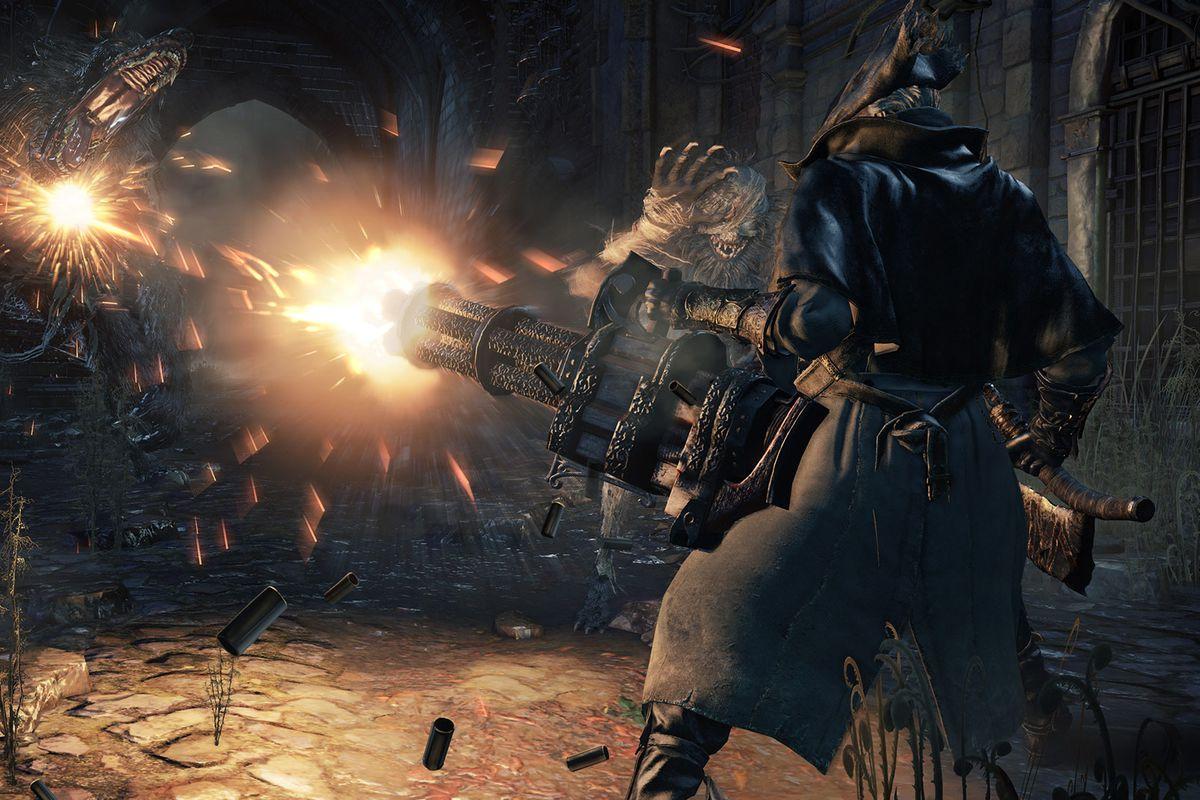 Bloodborne: The Old Hunters chain gun