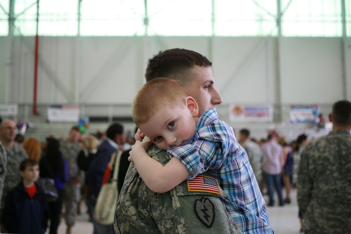 New fathers in the military get very little paid paternity leave to bond with their children.