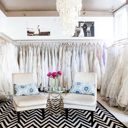 A lovely setting for wedding gown shopping.